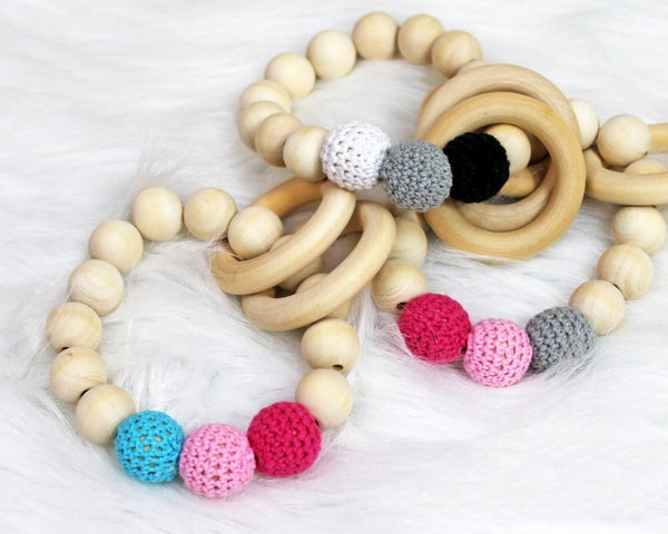Organic Wooden Teething Ring For Baby *Final Sale*
