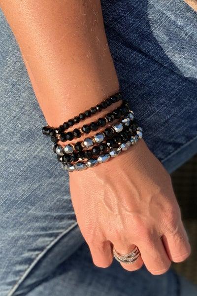 Elegant Black Bracelet Stack For Women *Final Sale*