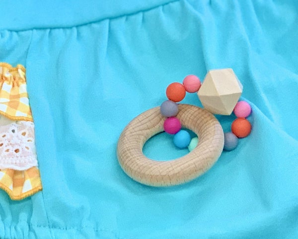 Geometric Organic Teething Toy For Baby *Final Sale*