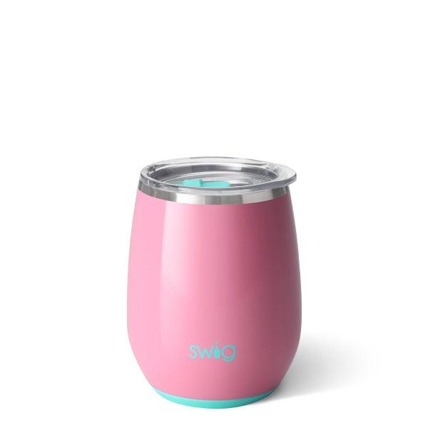 Swig Peony Pink 14oz Stemless Wine Cup