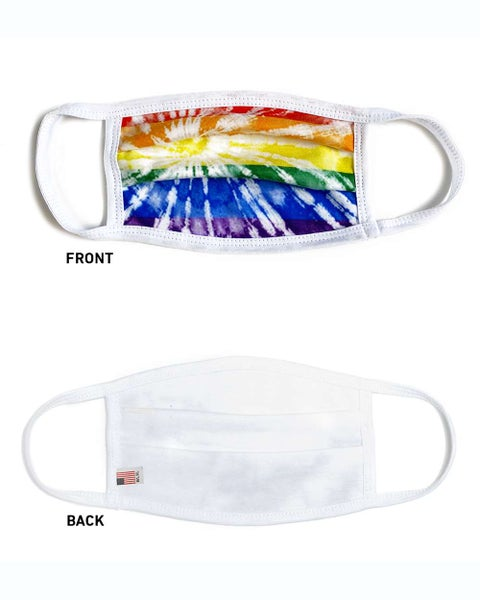 Rainbow Tie Dye Facial Protector For Youth