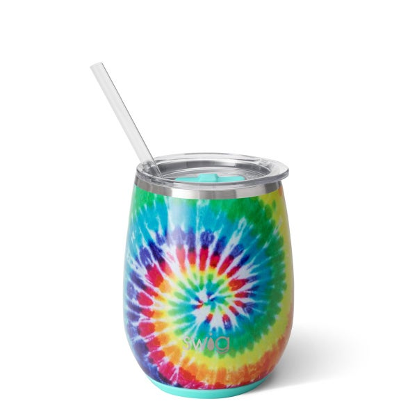 Swig Swirled Peace 14oz Stemless Wine Cup