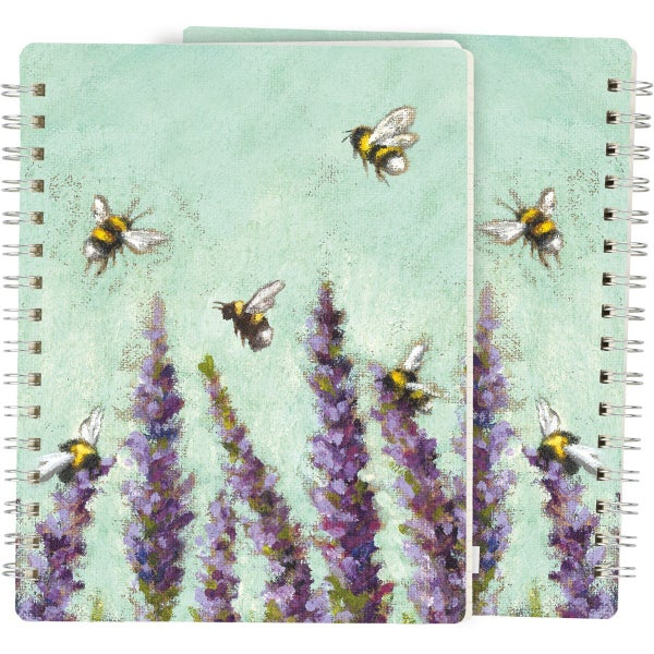 Lavender & Bee's Spiral Notebook *Final Sale*
