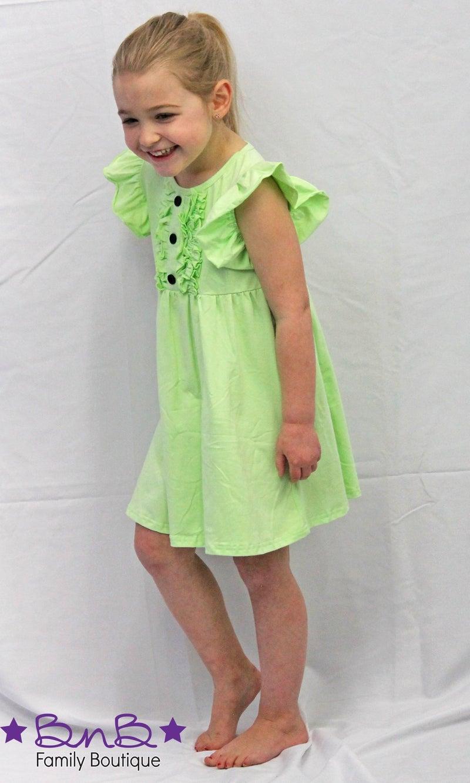 Keylime Flutter Dress *Final Sale*