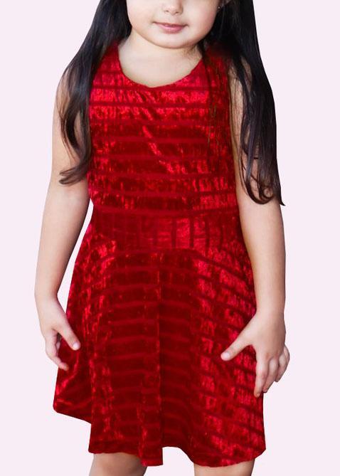 Girls Red Velvet Dress *Final Sale*
