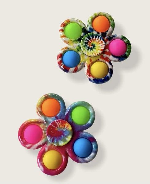 Tie Dye Crazy Snap Fidget Spinner Toy *Final Sale*