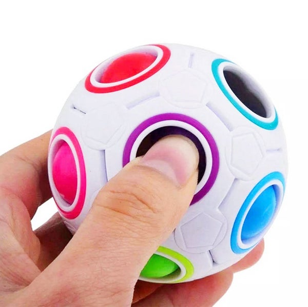 Rainbow Puzzle Ball Fidget Toy *Final Sale*