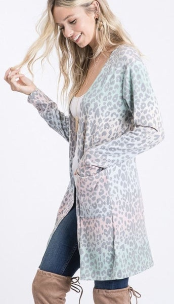 Mint Ombre Cardigan For Women