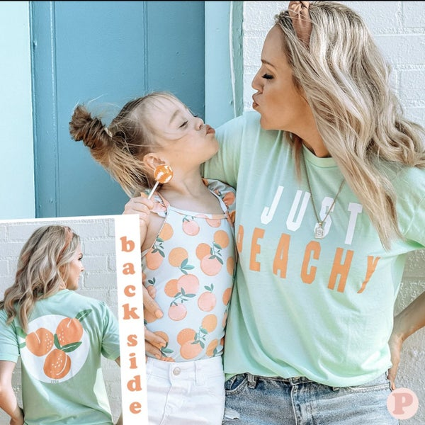 Just Peachy Graphic Tee For Women