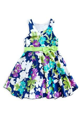 Purple Floral Dress For Girls