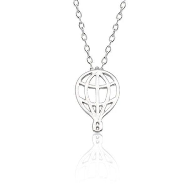 Hot Air Balloon Necklace - Silver *Final Sale*