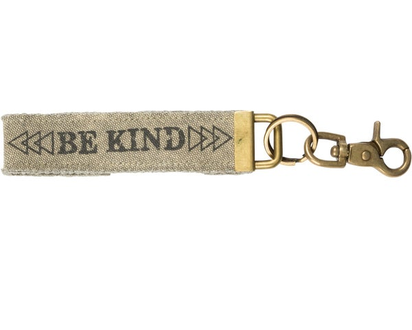 Be Kind Canvas Keychain *Final Sale*