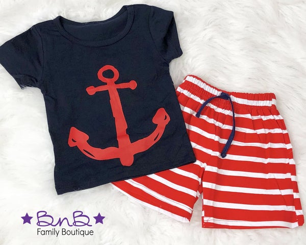 Anchors Away Outfit Set - 2pc *Final Sale*
