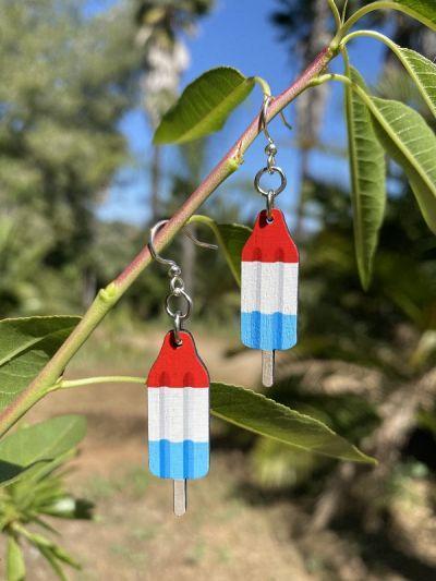 Red White & Blue Popsicle Earrings *Final Sale*