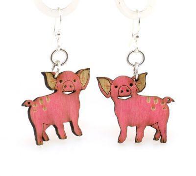 Pink Pig Earrings *Final Sale*