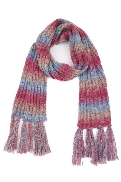 C.C. Mauve Ombre Scarf With Fringe For Women