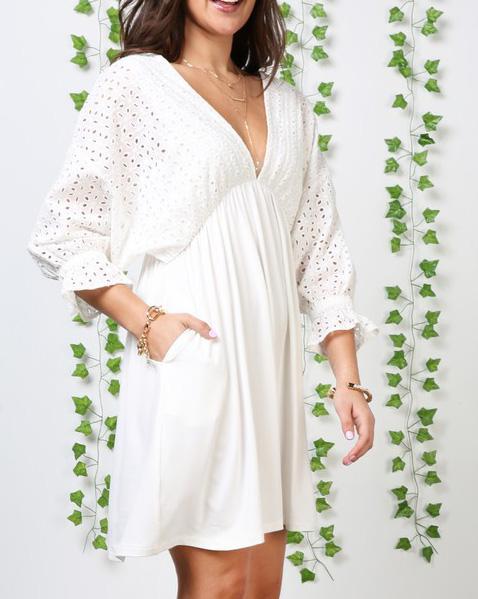 White Eyelet Dress For Women