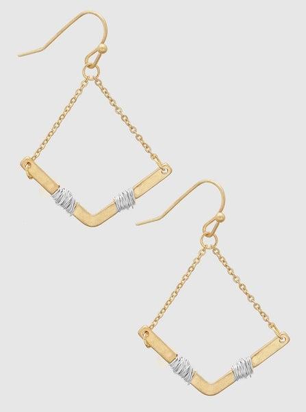 Worn Gold Wire Wrapped Earrings *Final Sale*