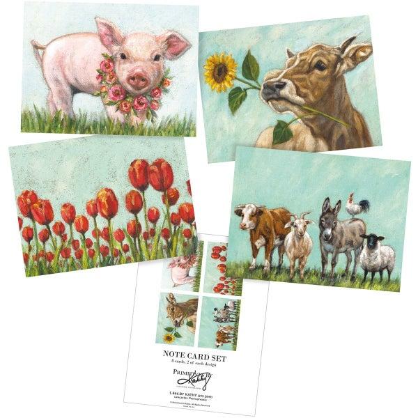 8 pc Farm Note Card Set *Final Sale*