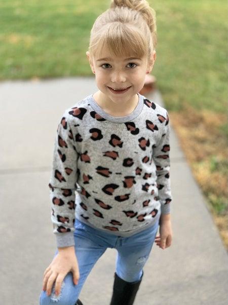 Animal Print Sweater For Girls