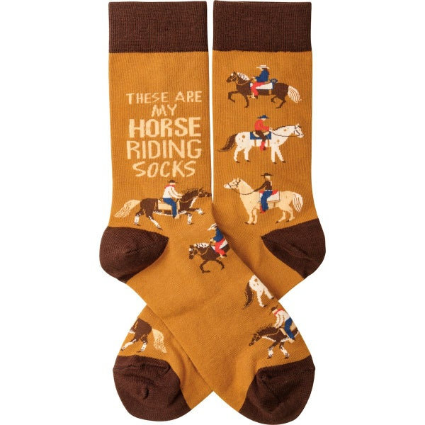 These Are My Horse Riding Socks - Adult *Final Sale*