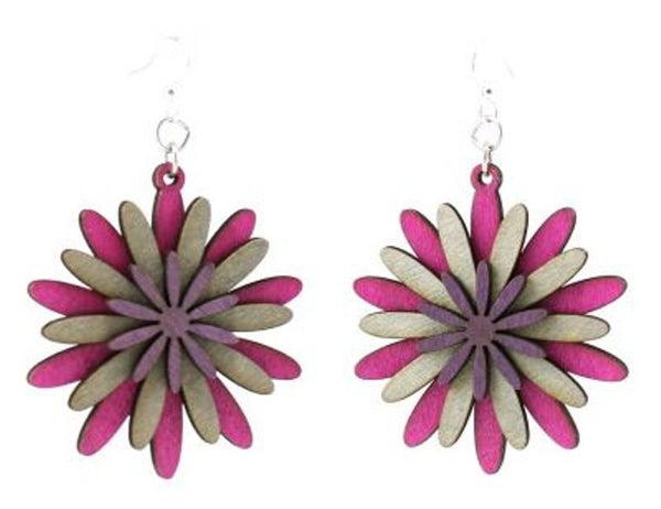 Layered Petals Wood Earrings *Final Sale*