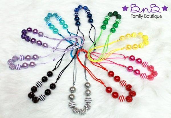 Girls Adjustable Bubblegum Necklace *Final Sale*