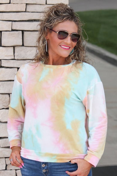 Pastel Tie Dye Top For Women *Final Sale*
