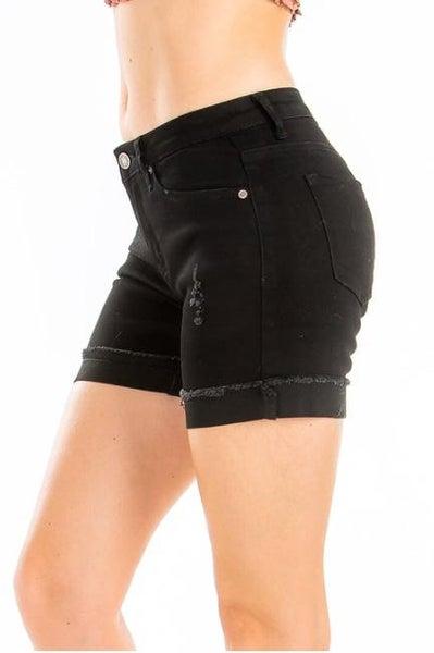 KanCan: Mid Rise Black Shorts