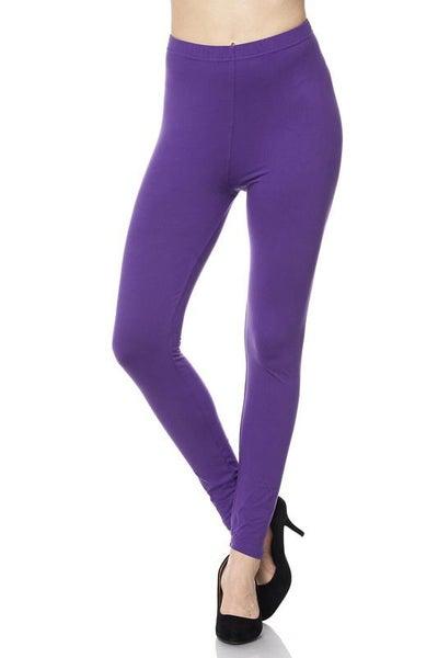"Purple Legging 1"" Waistband - Women *Final Sale*"