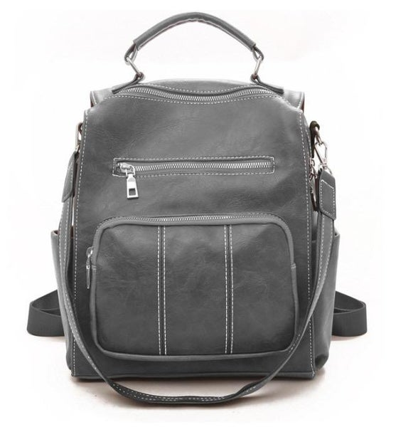 Gray Chelsea Convertible Backpack Purse For Women
