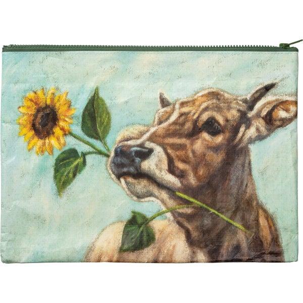 Happy Cows Zipper Pouch *Final Sale*