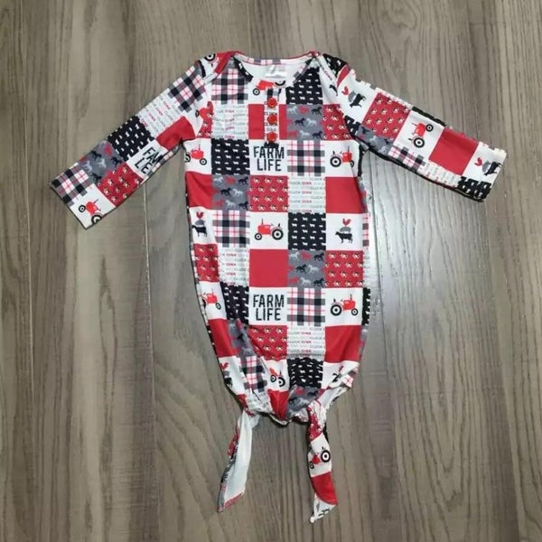 Farm Life Baby Sleep Gown