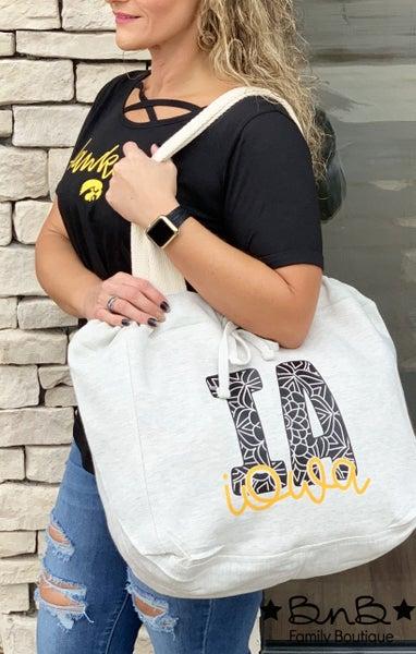 Iowa Sweatshirt Tote Bag *Final Sale*