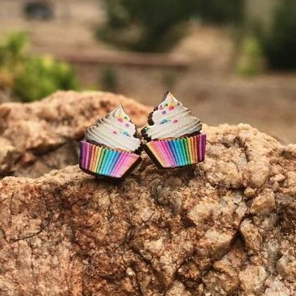 Cupcake Stud Earrings *Final Sale*