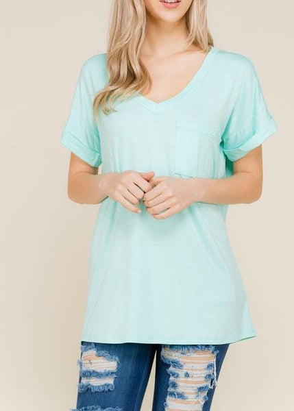 Cool Mint Boyfriend Tee For Women *Final Sale*