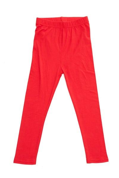Red Leggings For Girls