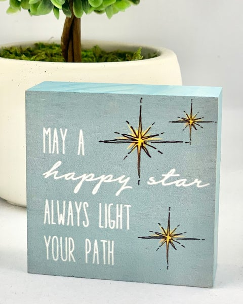 Light Your Path Mini Wood Sign