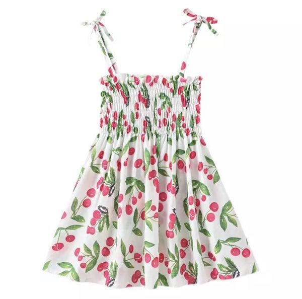 Cherry Sun Dress For Girls *Final Sale*