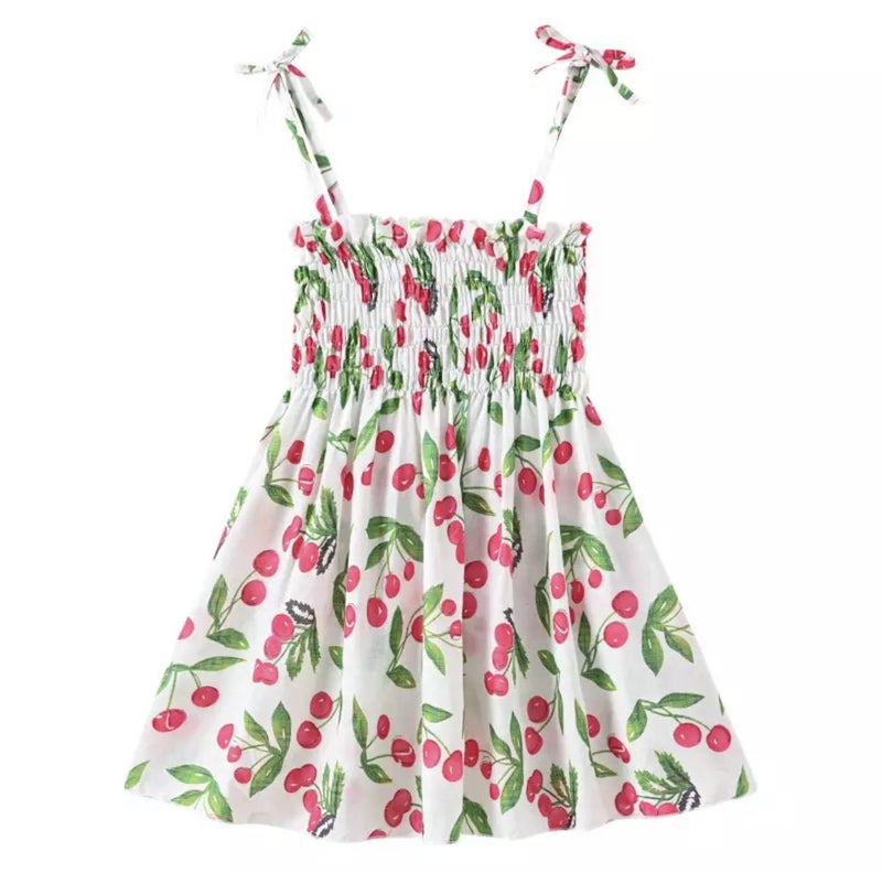 Cherry Sun Dress For Girls *Final Sale*