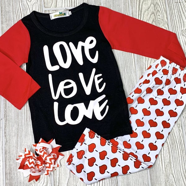 LOVE, LOVE, LOVE - Girls 2pc Set *Final Sale*