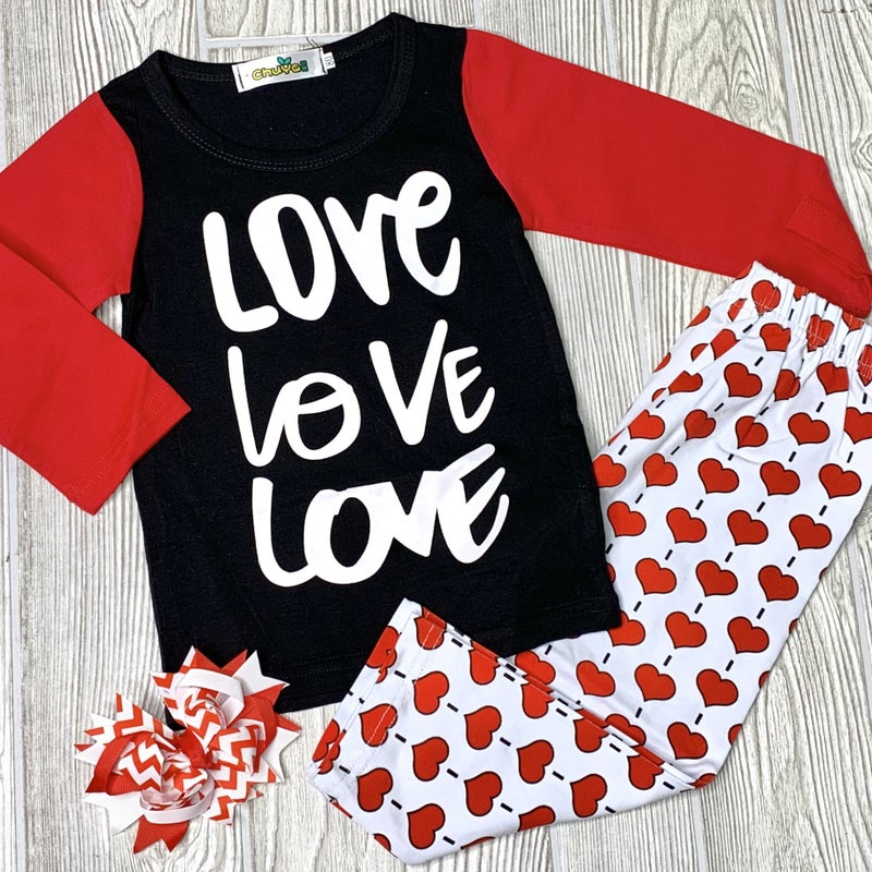 LOVE, LOVE, LOVE - Girls 2pc Set *Final Sale*
