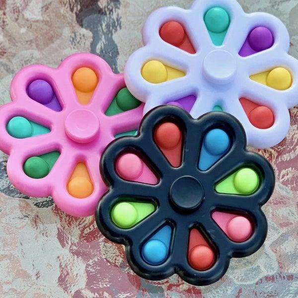 Pinwheel Bubble Pop It Fidget Spinner Toy *Final Sale*