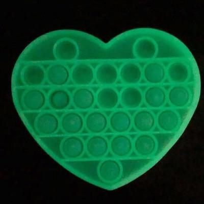 Glow In The Dark Heart Fidget Popper *Final Sale*