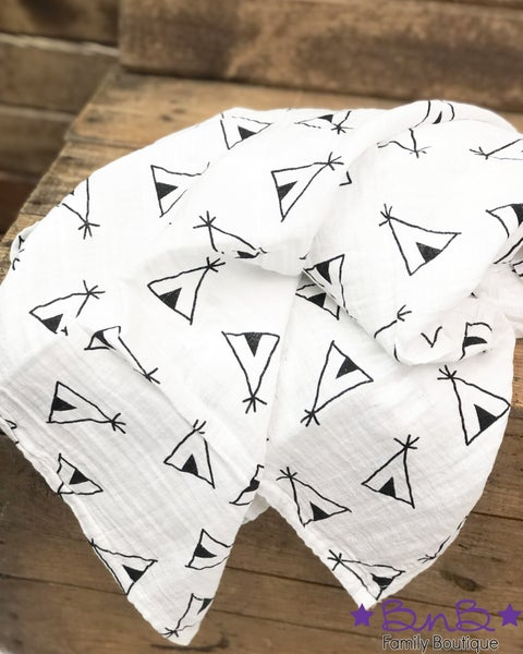 Teepee Muslin Blanket For Baby
