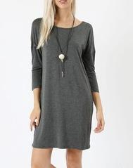 Charcoal Gray Tunic Top For Women *Final Sale*