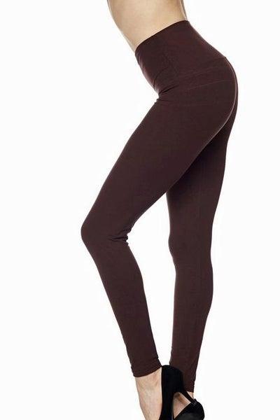 """Brown Legging 5"""" Waistband - Women *Final Sale*"""
