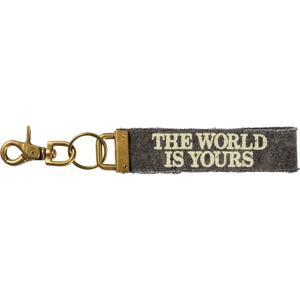 The World Is Yours Canvas Keychain *Final Sale*