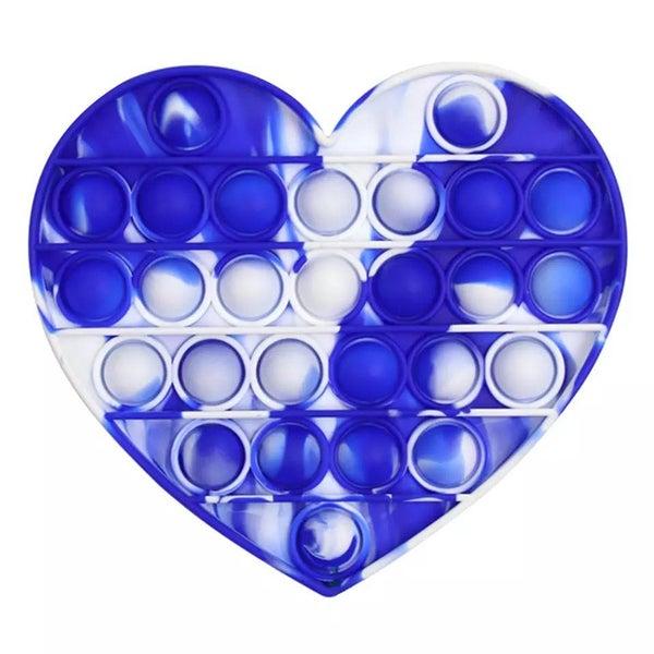 Blue & White Heart Fidget Popper *Final Sale*