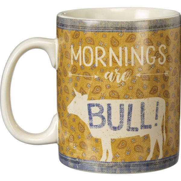 Mornings Are Bull Coffee Mug *Final Sale*